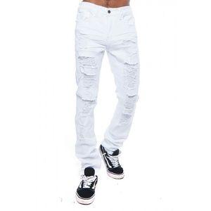 Other - Men White 5 POCKET DISTRESSED SLIM FIT PANTS